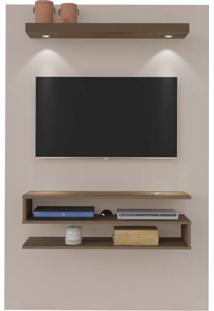 Painel Para Tv 42 Polegadas Nexus Marrom E Off White 120 Cm