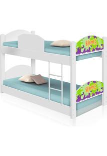 Beliche Infantil Slime Menino Com Colchãµes Casah - Branco/Multicolorido - Menino - Dafiti