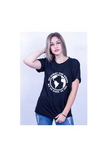 Camiseta Corte A Fio Bilhan Sorry For Whats Gde Preta