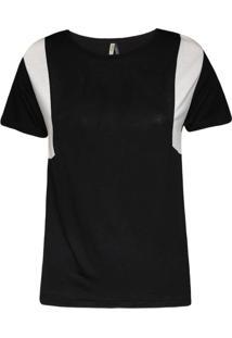 Camiseta Khelf Recortes Preto