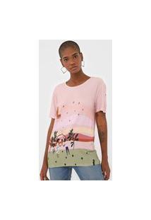 Camiseta Cantão Fortuna Rosa/Verde