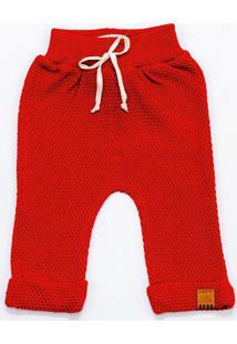 Calça Mini Lord - Diogo Bebê Menino - Vermelho