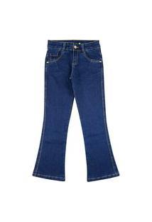 Calça Look Jeans Flare Jeans