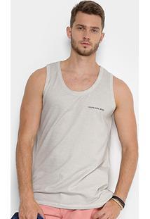 a30a783a715f5 Regata Calvin Klein Estampa Logo Surton Masculina - Masculino-Cinza
