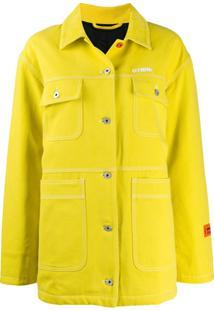 Heron Preston Jaqueta Jeans Com Logo Bordado - Amarelo