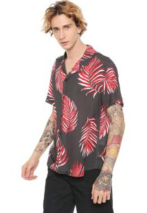 Camisa John John Reta Daniel Grafite/Vermelha