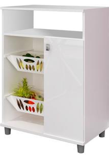 Armário Para Micro-Ondas Com Fruteira Gran 1 Pt Branco Gelo