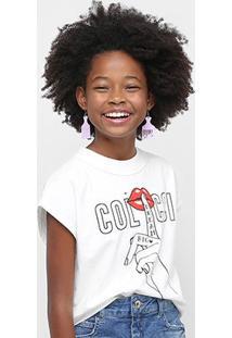 Blusa Cropped Infantil Colcci Fun Silence Feminina - Feminino