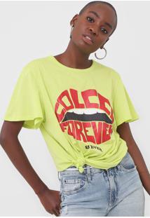 Camiseta Colcci Forever Verde