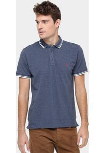 Camisa Polo Reserva Piquet Frisos Mesclado - Masculino-Marinho 34f7e683f11d6