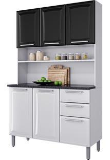Cozinha Compacta Regina – Itatiaia Aço - Branco / Preto