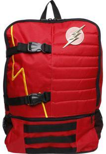 Mochila Dc Comics Power Flash - Vermelha & Preta - 4Dc Comics