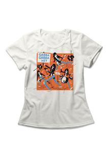 Camiseta Feminina Gabba Gabba Hey Off-White