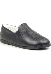 Sapato Conforto Forrada Lã Sintética Masculino - Masculino