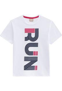 Camiseta Infantil Milon Meia Malha Run Masculina - Masculino