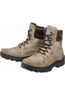 Bota Couro Stevan Boots Amazonia Adventure Pespontos Bege