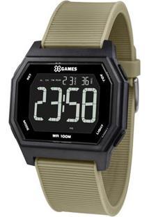 Relógio Digital Quartz Xgppd116Pxex- Preto & Verde Militorient