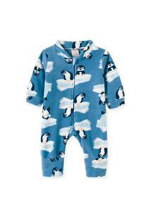 Macacão Pijama Bebê E Infantil Soft Pingo Lelê Pinguim Azul