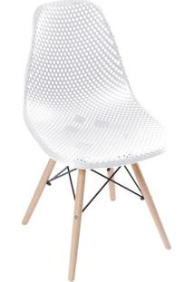 Cadeira Eames Colmeia- Branca & Bege- 82,5X46,5X42Cmor Design