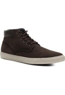 Bota Couro Shoestock Cano Médio Masculina - Masculino-Marrom