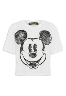 Camiseta Feminina Estampada - Off White