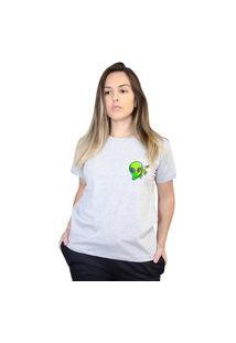 Camiseta Boutique Judith Alien Boss Cinza