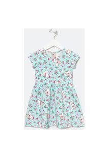 Vestido Infantil Estampa Coelhinho - Tam 1 A 5 Anos | Póim (1 A 5 Anos) | Azul | 04