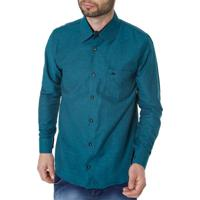 Camisa Manga Longa Masculina Verde 6c9635e65019a