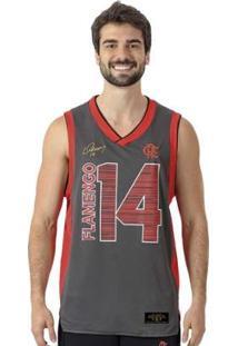 Regata Flamengo Basket Braziline P - Masculino-Cinza