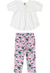 Conjunto Tropical Chic Branco