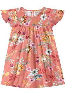 Vestido Tecido Rayon Bali Laranja