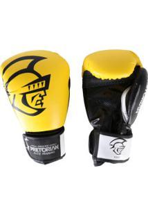 Luvas De Boxe Pretorian Elite - 12 Oz - Adulto - Amarelo/Preto