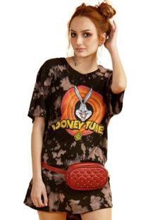 Camiseta Bandup! Feminina Looney Tunes Logo Feminina - Feminino-Preto