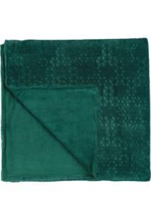 Manta Dupla Face Casal Altenburg Blend Elegance Plush Prisma - Verde Verde - Tricae