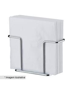 Porta Guardanapos- Prateado- 8,5X13,4X5Cmfuture