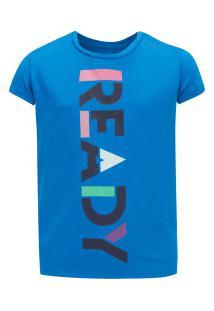 Camiseta Oxer Ready Girls Feminina - Infantil - Azul