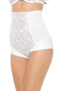 Calcinha Triumph Hot Pant Modeladora Branca/Bege