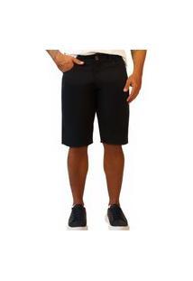 Bermuda Jeans Sandro Moscoloni Basic Preto