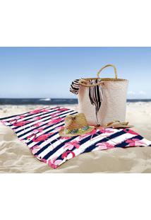 Toalha De Praia / Banho Flamingo Marine