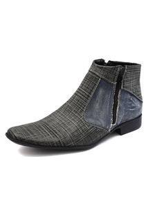 Sapato Social Gasparini Jeans Azul