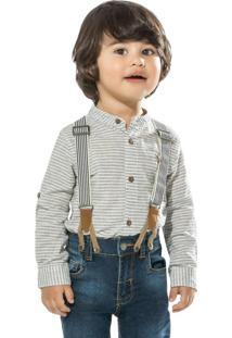 Camisa Infantil Azul
