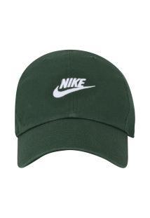 Boné Aba Curva Nike Sportswear H86 Futura Washed - Strapback - Adulto -  Verde Branco 7d53d96d8bc