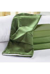 Capa De Travesseiro Rafaela Verde Musgo Enxovais Aquarela