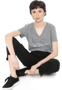 Camiseta Colcci Influential Cinza