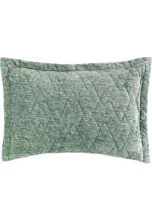 Porta Travesseiro Blend Fashion Concept Green 50Cm X 70Cm Verde
