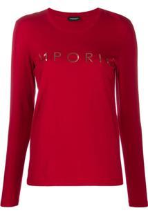 Emporio Armani Blusa De Pijama Estampada - Vermelho