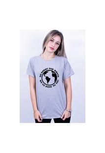 Camiseta Bilhan Corte A Fio Sorry For Whats Gde Cinza