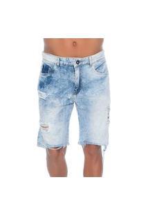 Bermuda Jeans Com Rasgos 10 Emporio Alex
