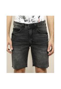 Bermuda Jeans Masculina Slim Preta