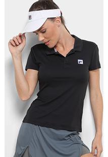 Camisa Polo Fila Fusion Feminina - Feminino-Preto